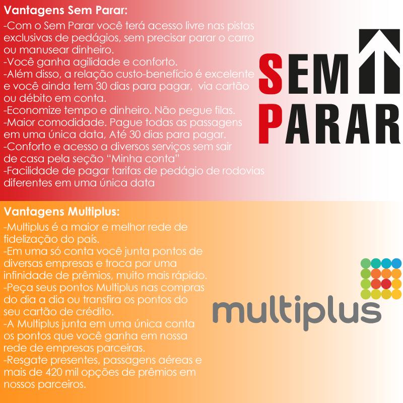 Vantagens Multiplus e SemParar